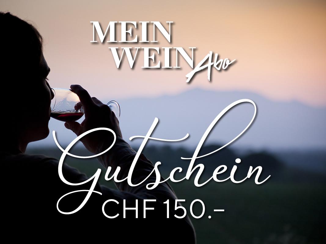 MeinWein-Abo Geschenkkarte CHF 150.–