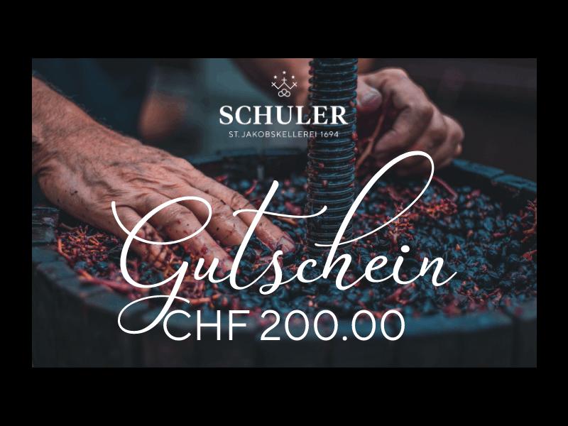 Geschenk-Gutschein CHF 200.00
