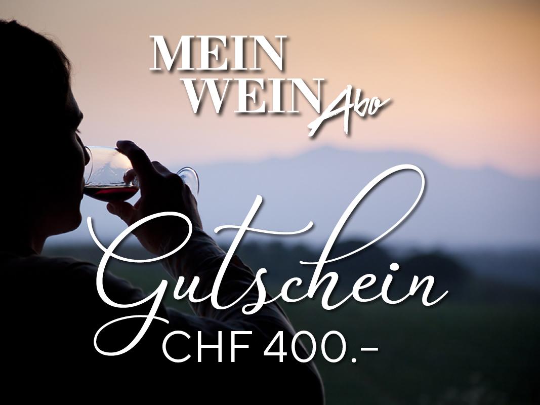 MeinWein-Abo Geschenkkarte CHF 400.–